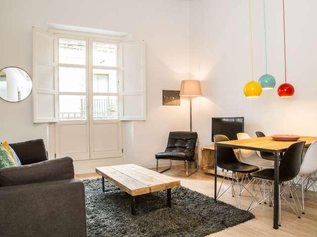 Big 1-bedroom apartment in Les Rambles, Barcelona