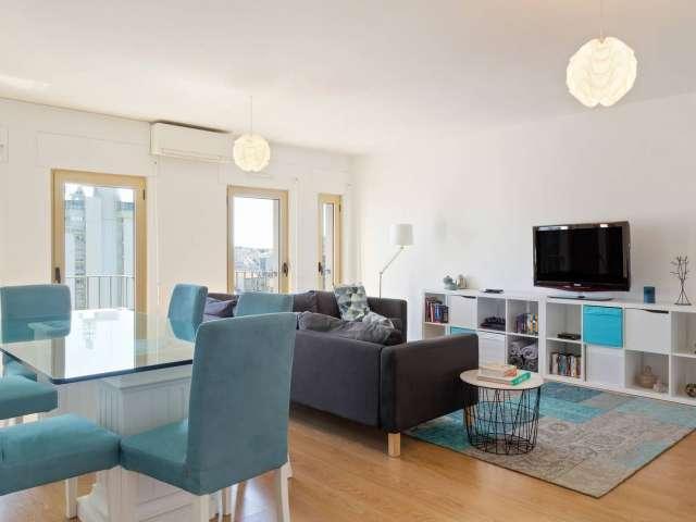 Apartamento vibrante de 2 quartos para alugar em Alvalade, Lisboa