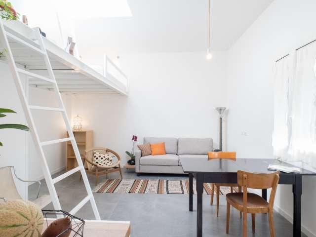 Studio appartement avec terrasse à louer à Pigneto, Rome