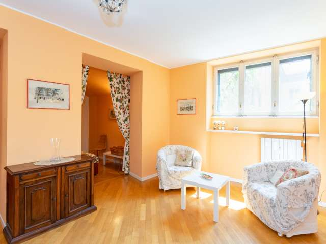 Bright 2-bedroom apartment for rent in Brera, Milan