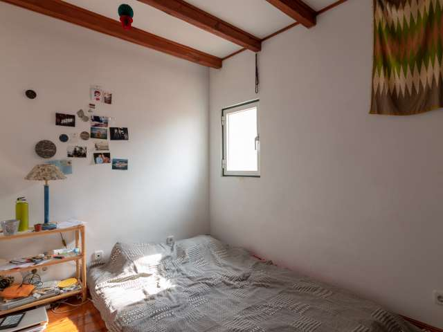 Quarto acolhedor para alugar em apartamento de 3 quartos na Estrela, Lisboa