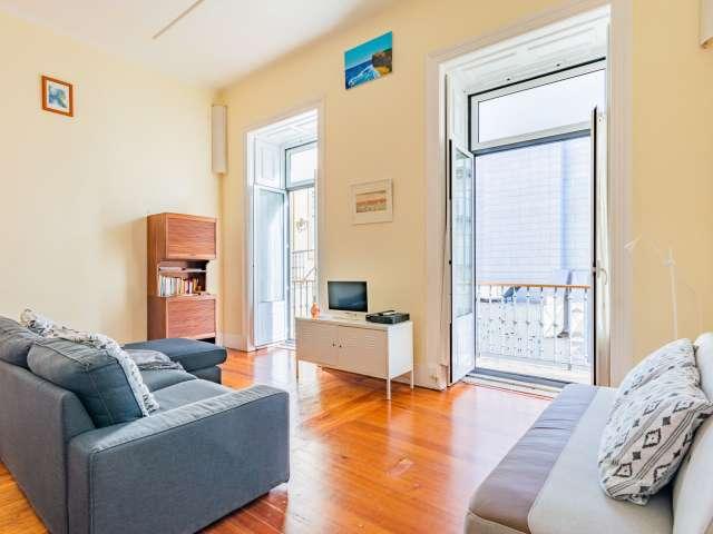 Apartamento de 2 quartos para alugar em Bairro Alto, Lisboa