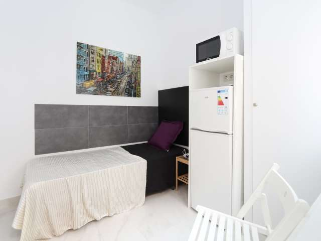 Studio room in 8-bedroom apartment in Usera, Madrid