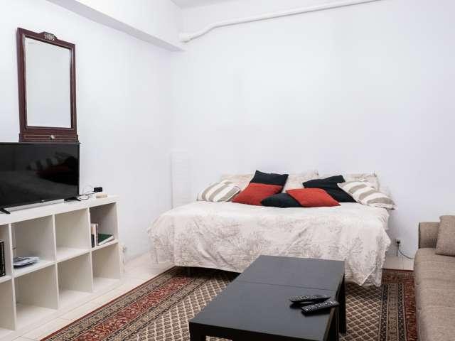 Habitación grande en piso de 3 dormitorios en Madrid Centro