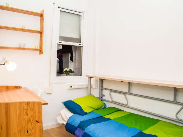 Decorated room in shared apartment in Poblenou, Barcelona