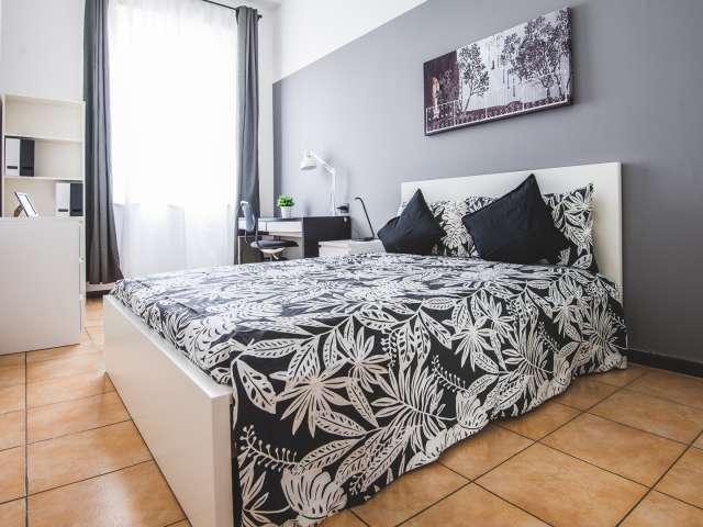 Chic room in 6-bedroom apartment, Viale Monza, Milan
