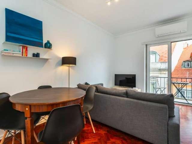Apartamento de 1 quarto para alugar em Santo António, Lisboa