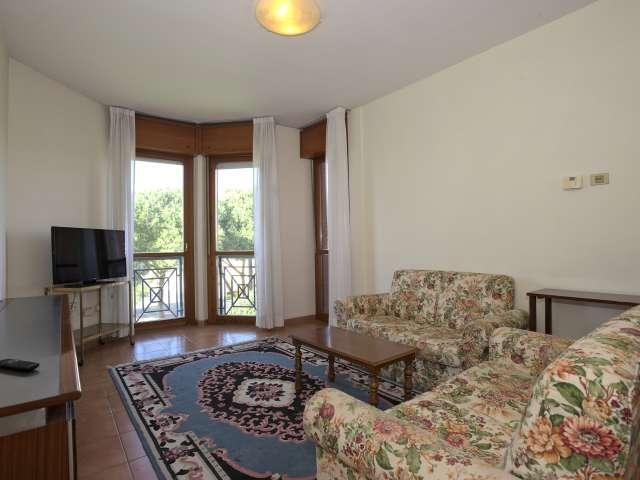 Ruhige 2-Zimmer-Wohnung zur Miete in Torrino, Rom