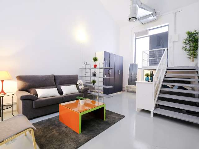Stylish studio apartment for rent in Ciudad Lineal, Madrid