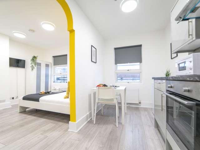 Quiet studio flat to rent in Willesden Junction, London