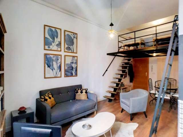 Helle Studio-Wohnung zur Miete in Lavapiés, Madrid