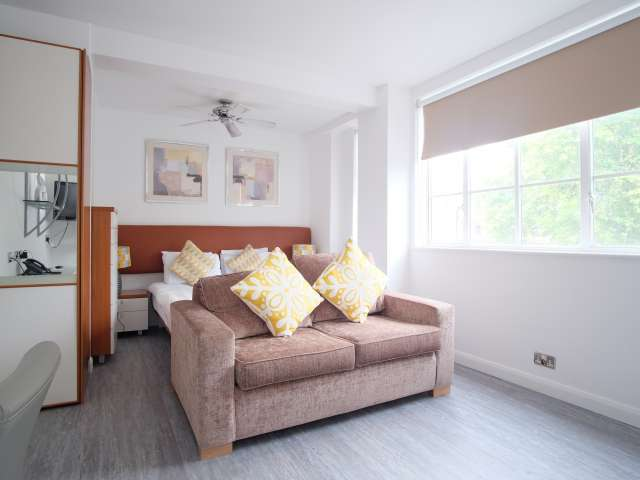 Furnished studio apartment to rent in Kensington, London