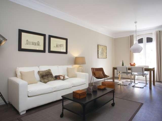 Elegante appartamento con 1 camera da letto con aria condizionata in L'Eixample Esquerra