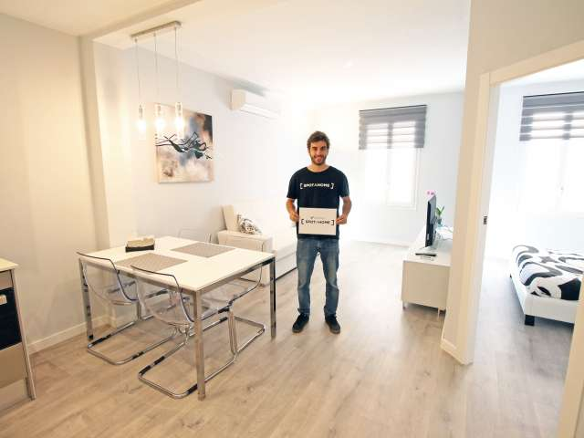 1-bedroom apartment with AC for rent in Poble Nou, Barcelona