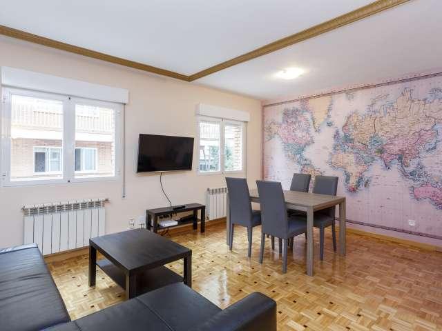 Geräumige 2-Zimmer-Wohnung zur Miete in Guindalera, Madrid