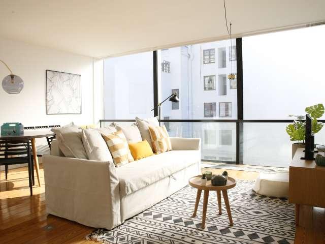 Apartamento de 1 quarto para alugar em San Antonio, Lisboa.