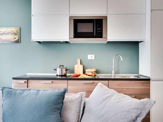 Luminoso, elegante appartamento con 1 camera da letto in affitto a Centro Storico