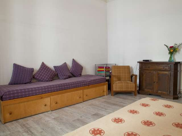 Bright room in 3-bedroom apartment in Prati, Rome