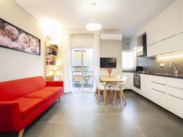 Modern 3-bedroom apartment for rent in Gràcia, Barcelona