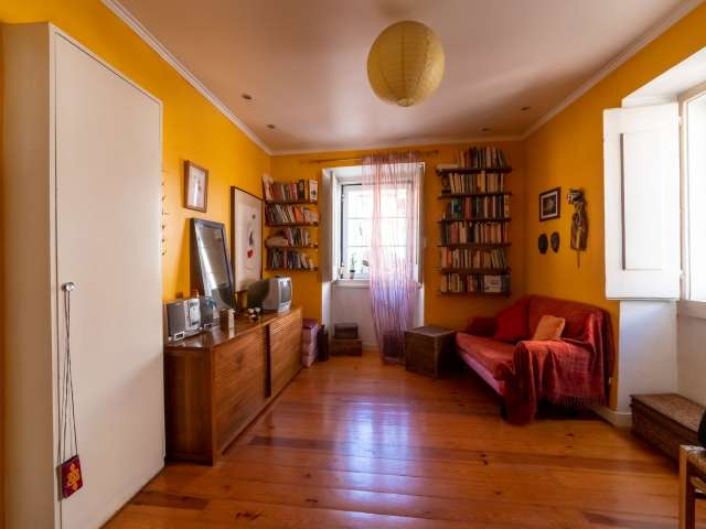 Colorful 1-bedroom apartment for rent in Rossio, Lisbon