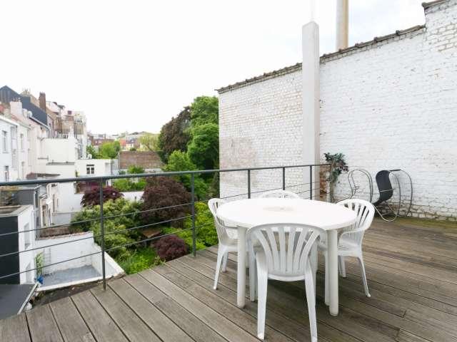 Studio avec terrasse à louer à Ixelles, Bruxelles