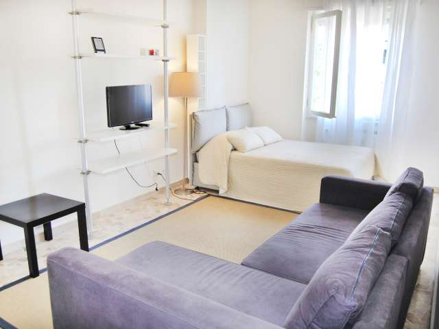 Studio Apartment for Rent with Balcony, Navigli, Milan