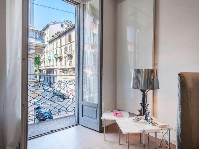 Elegante appartamento con 1 camera da letto in affitto a Milano