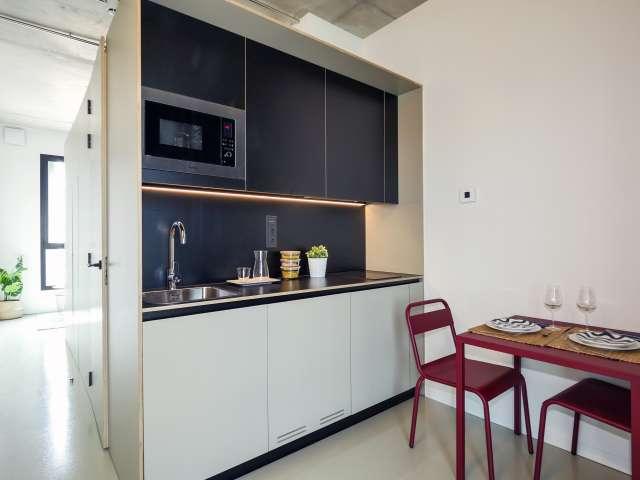 Modern studio apartment for rent in Poblenou, Barcelona