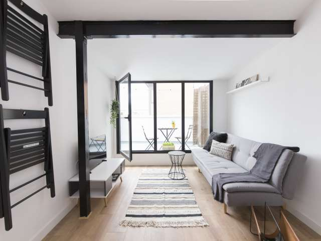 Fashionable studio apartment for rent in Tetuán, Madrid
