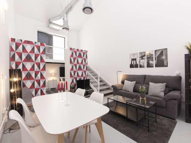 Modern studio apartment for rent in Ciudad Lineal, Madrid