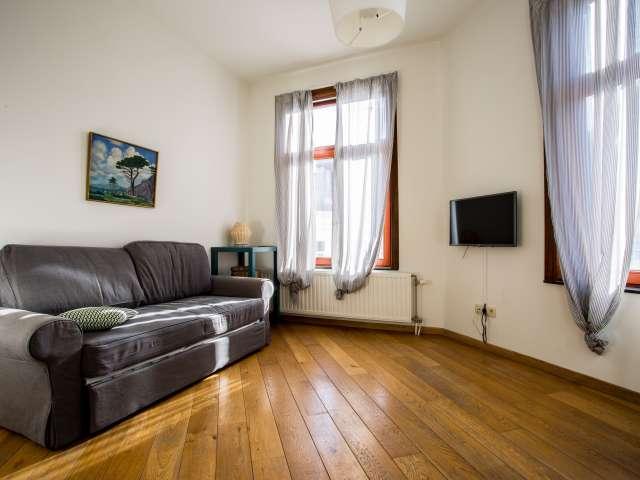 Bright studio apartment for rent in Saint Gilles, Brussels