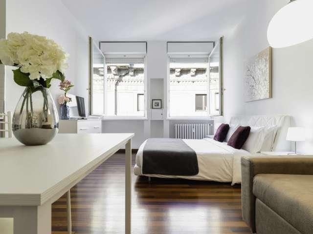 Modern studio apartment for rent in Milan Centro