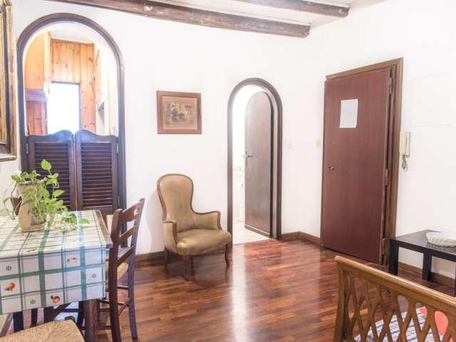 Appartamento con 1 camera da letto e soffitti alti in affitto, Trastevere, Roma