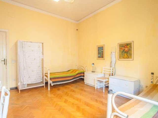 Spacious room in 6-bedroom apartment in Parioli, Rome