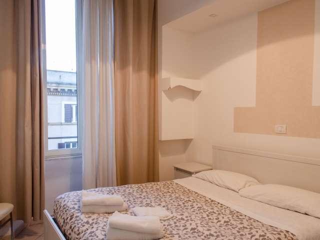 Camera arredata in appartamento con 4 camere da letto a Prati, Roma