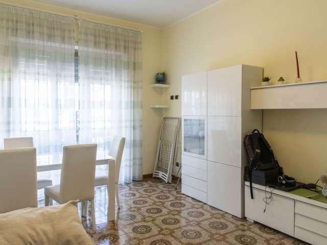 Luminoso appartamento con 1 camera da letto in affitto a Ostiense, Roma