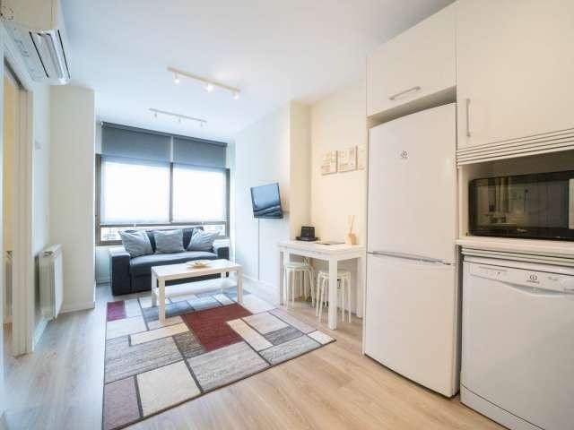 Slick 1-Zimmer-Wohnung zur Miete in Nueva España, Madrid