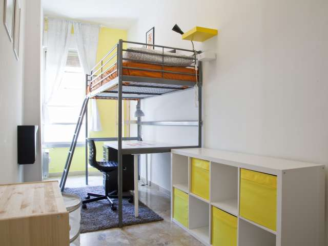 Modern room in 8-bedroom apartment in Parioli, Rome