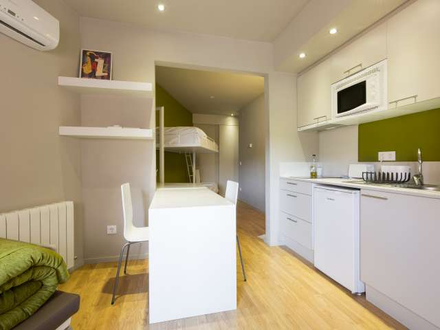 Modern studio apartment for rent in Gràcia, Barcelona