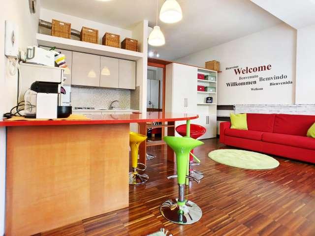 Funky appartamento con 1 camera da letto in affitto a Bovisa, Milano