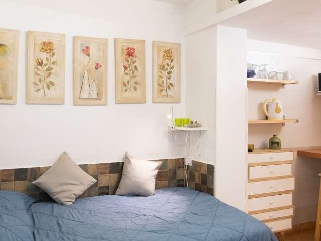 Studio accogliente e moderno con AC in affitto a Balduina, Roma