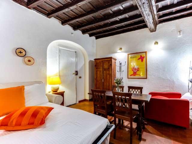 Accogliente appartamento con 1 camera da letto in affitto a Trastevere, Roma