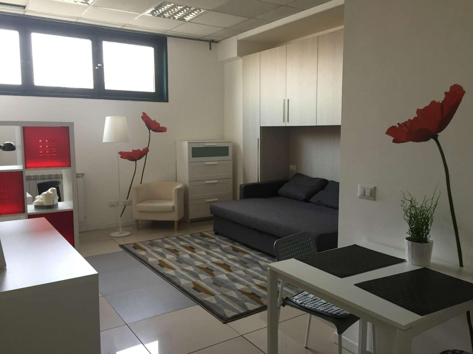 Equipped studio apartment for rent in Bovisa Milan ref 102426