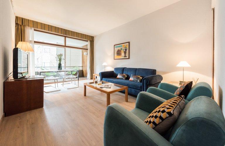 Stilvolle 1-Zimmer-Wohnung zur Miete in Chamartín, Madrid