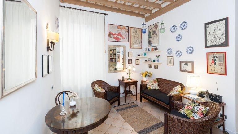 Gemütliche 2-Zimmer-Wohnung zur Miete in Centro Storico, Rom