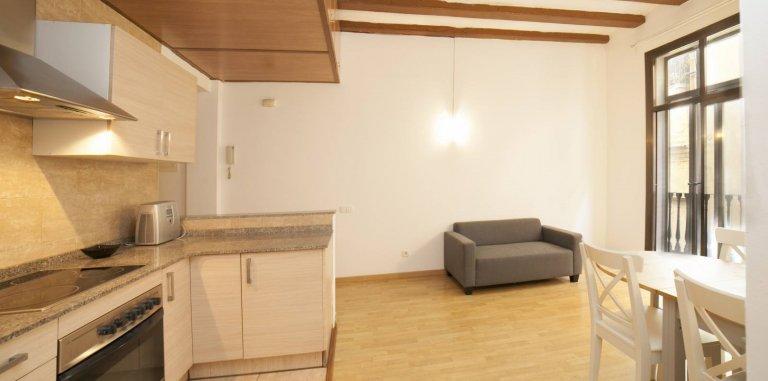 Barri Gotic Barcelona kiralık 2 odalı daire