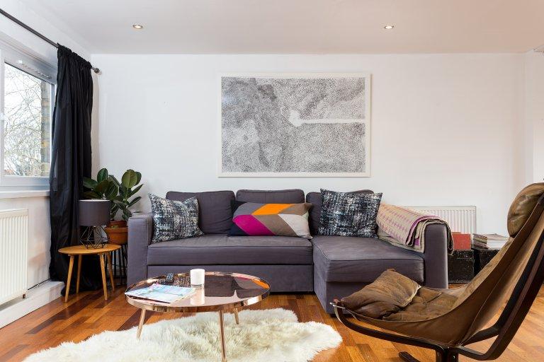 Sonnige 2-Zimmer-Wohnung zur Miete in Whitechapel, London