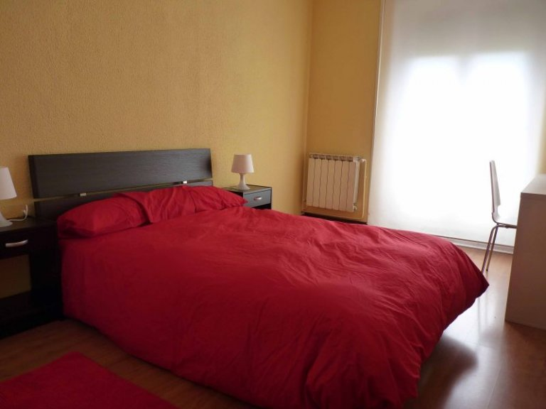 Double Bed in Rooms for rent in 3-bedroom apartment for rent in Retiro