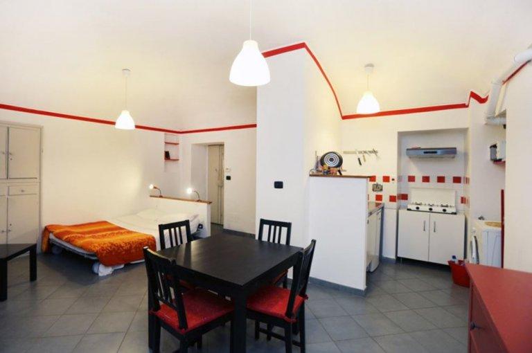 Quirky studio apartment for rent in San Salvario, Turin