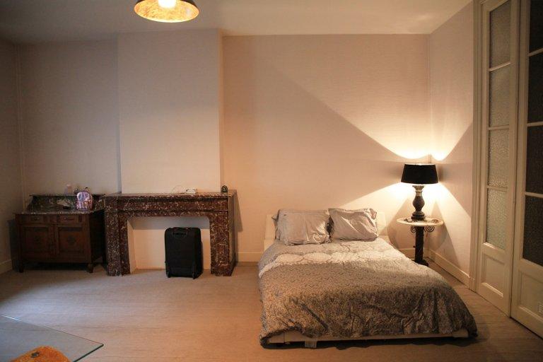 Stanza luminosa in affitto in appartamento con 3 camere da letto a Ixelles